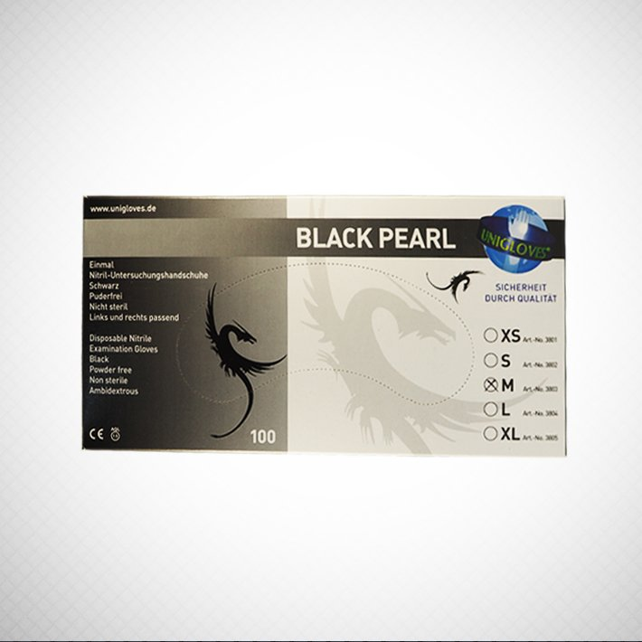 UNIGLOVES- Black PERL-100